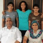 Ritu Phogat with her parents and siblings