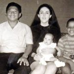 Barack Obama with his mother Ann Dunham and step father Lolo Soetoro