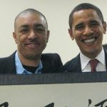 Barack Obama with his younger half-brother Mark Okoth Obama