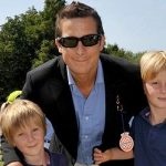 Bear Grylls with his Children Jesse  and Marmaduke