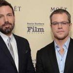 Ben Affleck with his childhood friend Matt Damon