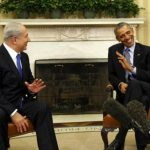 Benjamin Netanyahu with Barack Obama