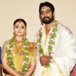 Bhavana with her husband Naveen