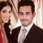 Bilal Khan with his wife