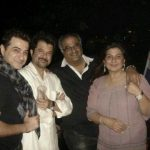 Boney Kapoor with brothers Sanjay Kapoor (left), Anil Kapoor and sister Reena