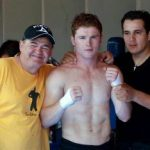 Canelo Alvarez with Chepo and Eddy Reynoso