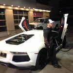 Canelo with his Lamborghini