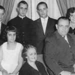 Cardinal Jorge Mario Bergoglio, Archbishop of Buenos Aires, second from left in back row, poses for a picture with his family