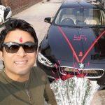 Chandan Prabhakar with his BMW 3 series