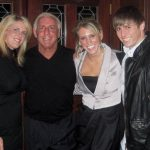 Charlotte flair with her parents and late younger brother