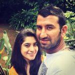 Puja Pabari with her husband Cheteshwar Pujara