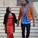 Chris Blue with her fiance Stephanie