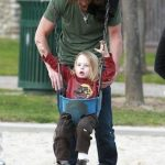 Chris Cornell with his son