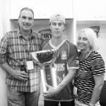 Chris Lynn with his Parents