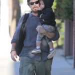 Christian Bale with his son Joseph Bale