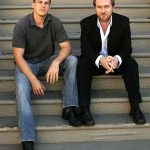 Christopher Nolan with his Brother Jonathan Nolan