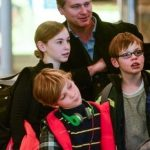 Christopher Nolan with his children Rory Nolan, Flora Nolan, Director Christopher Nolan, Magnus Nolan
