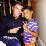 Cristiano Ronaldo with his son Cristiano Ronaldo JR.