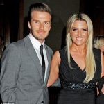 David Beckham with his sister Joanne Beckham