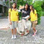 Deepa Malik with her daughters