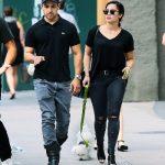 Demi Lavato on a stroll with Wilmer Valderrama