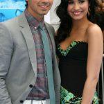 Demi Lavato with Joe Jonas