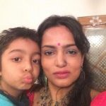 Devangana Kumar with her son