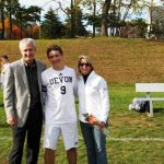 Devon Allen with his parents