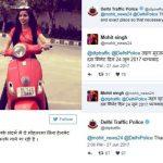 Dhinchak Pooja scooter helmet controversy