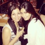 Diana Penty with her mother
