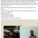 Dilpreeet Singh Dhahan Facebook post after attacking Parmish Verma