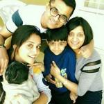 Dipika Kakar with her elder sister, brother-in-law Vinod and nephew Pranav