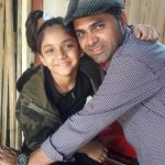 Ditya Bhande with her father