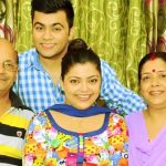 Divya Bhatnagar with her Family