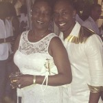 Dwayne Bravo with his mother