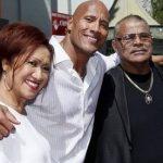 Dwayne Johnson with his Parents