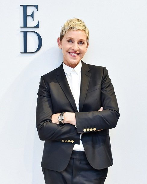 Ellen Degeneres posing at an event