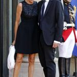 Emmanuel Macron with his Wife