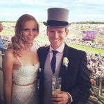 Eoin Morgan with his present girlfriend Tara Ridgway