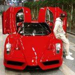 Floyd Mayweather with Ferrari Enzo