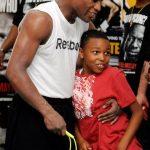 Floyd with his son Koraun Mayweather