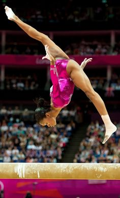 Gabby in the air