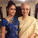 Gaiti Siddiqui with her mother