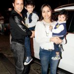 Ganesh Hegde with his wife and children