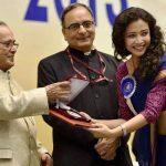 Geetanjali Thapa receiving National Award for Liars Dice