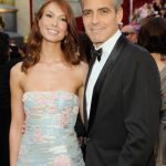 George Clooney with his Ex-girlfriend Sarah Larson
