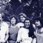 George Michael with his parents and sisters