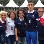 Griezmann family, including Antoine girlfriend Erika