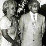 Harivansh Rai Bachchan with his wife Teji Bachchan