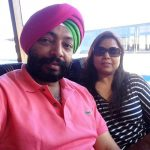 Harpal Singh Sokhi with his wife